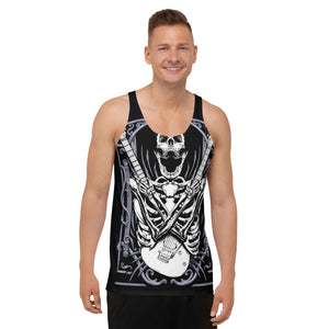 Skeleton Guitars Unisex Tank Top