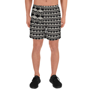 Skulls And Stripes Athletic Long Shorts