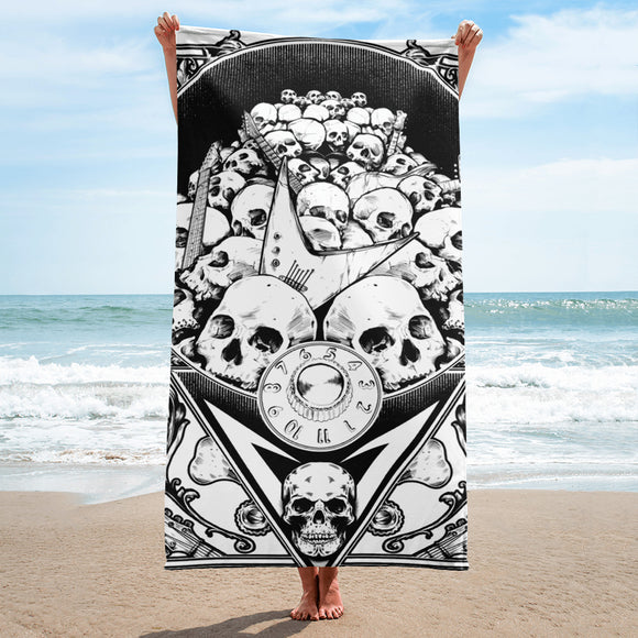 Guitar Grave Yard Towel
