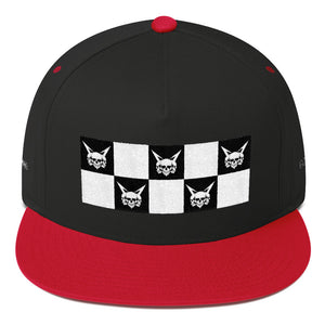 Vagabond Checkers Flat Bill Cap