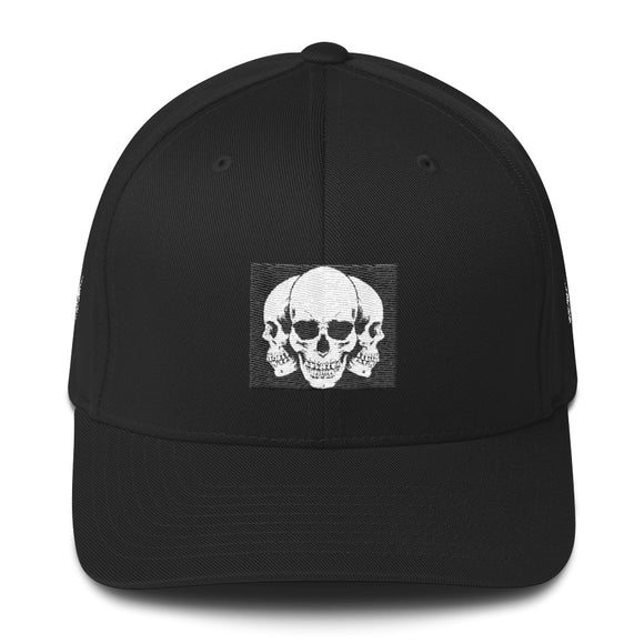 Flexfit 3 Skulls Structured Twill Cap