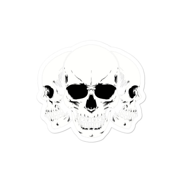 3 Skulls Bubble-free stickers