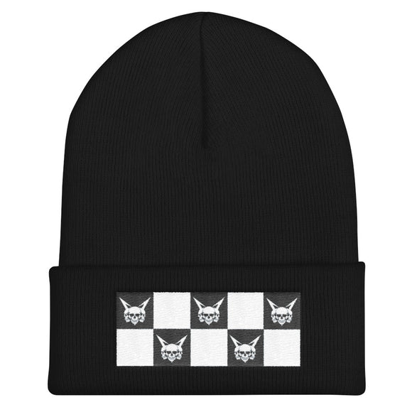 Vagabond Checkers Cuffed Beanie