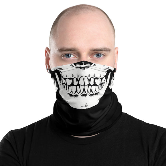 Skull Face Mens Neck Gaiter/Face Mask