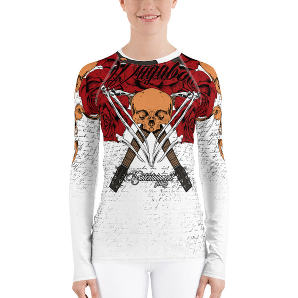 Women's Rash Guard Death Rose