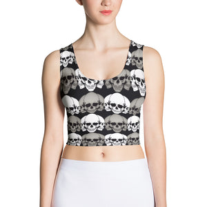 Skull Spots Sublimation Cut & Sew Crop Top