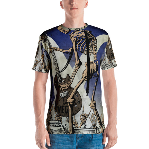 Rock & Roll Skeleton All-Over T-shirt