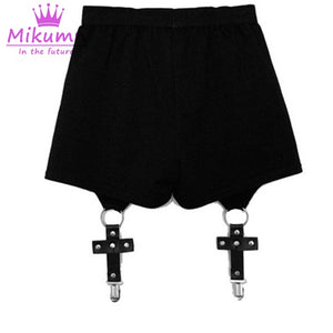 Women Shorts Cross Ring