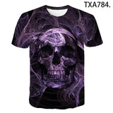 3D Printed Men's and Women's Punk Style Gothic T-Shirts Multiple Designs