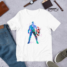 Captain America Water Color Drops Short-Sleeve Unisex T-Shirt - - The IronSuit