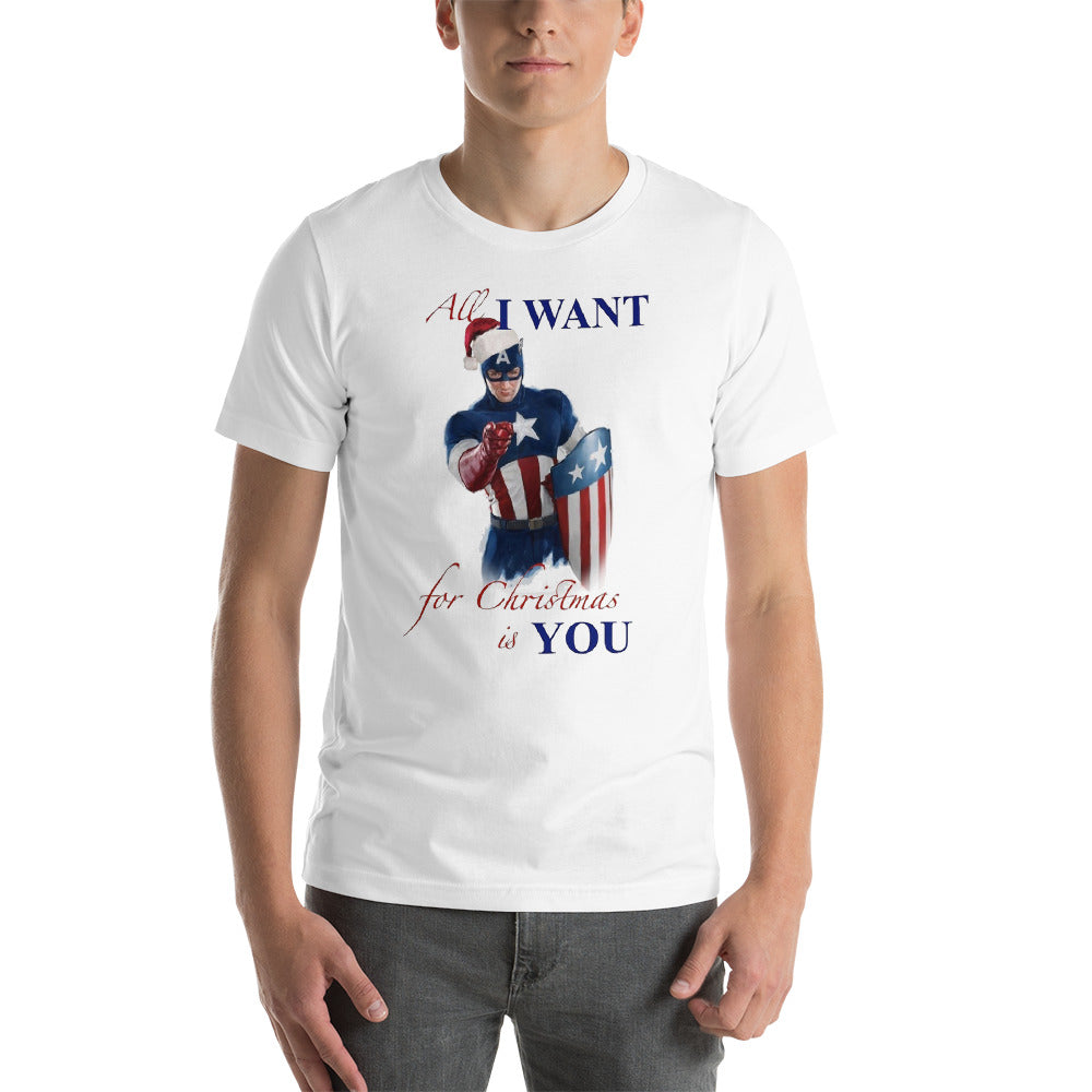 Christmas With Captain America Short-Sleeve Unisex T-Shirt