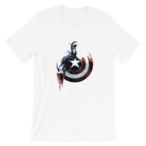 Captain America Shield Degrading Short-Sleeve Unisex T-Shirt