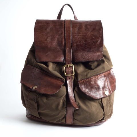 Campomaggi Backpack in fabric and leather