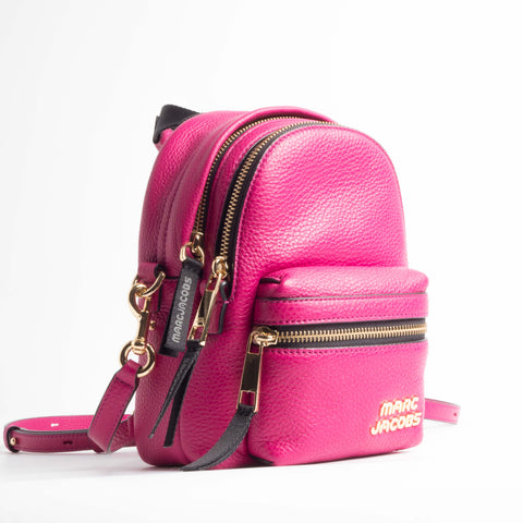 Trek Pack Leather Mini Backpack - Magenta