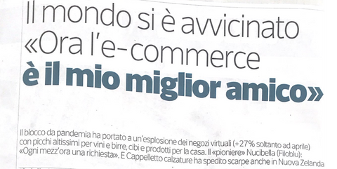 Article Cappelletto courier of the evening