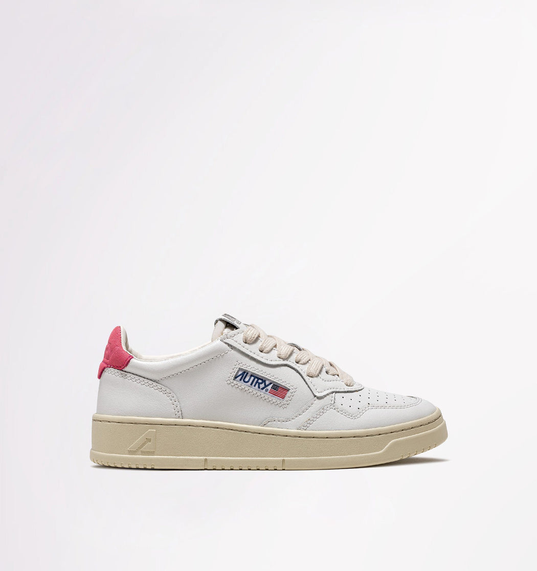 AUTRY LN27 - LOW WOM ALL LEAT - White / Camelia Women's Shoes AUTRY - Women's collection