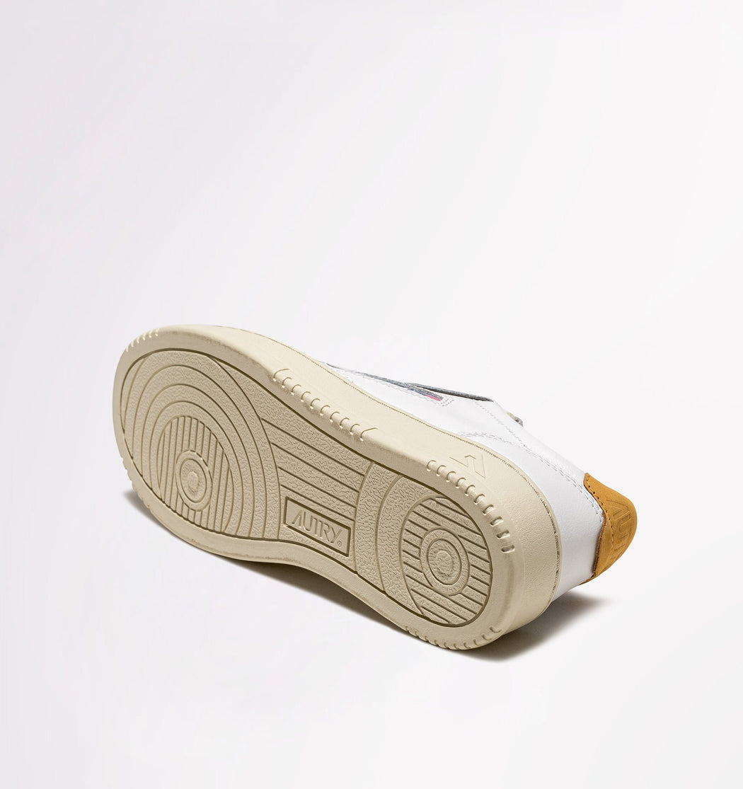 AUTRY LN28 - LOW WOM ALL LEAT - White / YellowGold Women's Shoes AUTRY - Women's collection