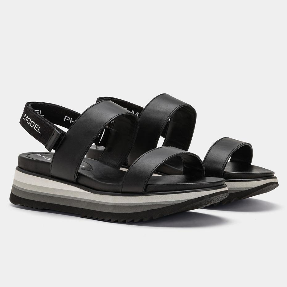 PHILIPPE MODEL PE19 - CSLD V002 - Sandal - Black Women's Shoes Philippe Model Paris