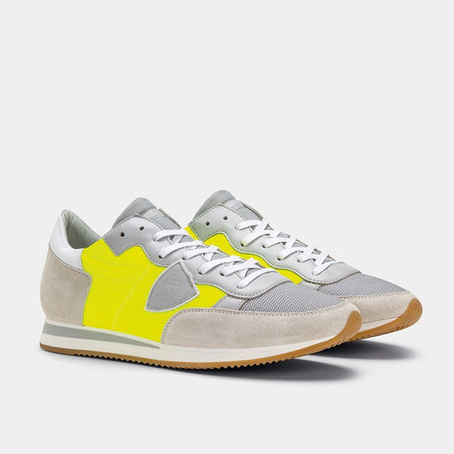 PHILIPPE MODEL PE2019 - TRLU W012 - Tropez Mondial Surf Jaune Neon Scarpe Uomo Philippe Model Paris