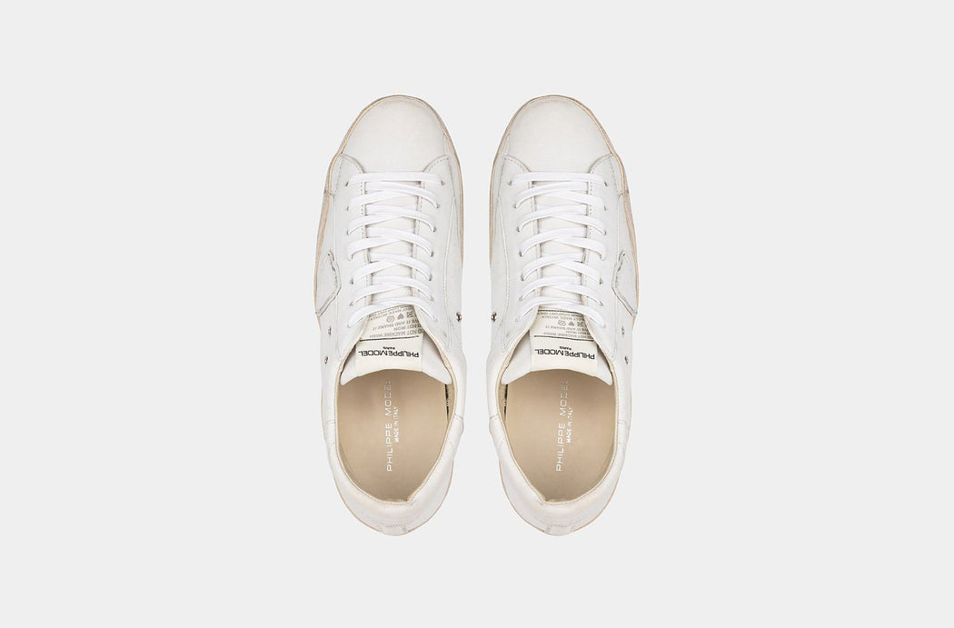 PHILIPPE MODEL AI19 / 20 - CLLU WW25 - PARIS - VINTAGE WHITE Shoes for men Philippe Model Paris