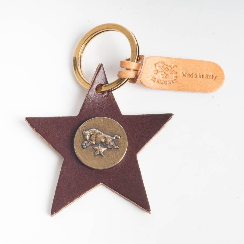 IL BISONTE - C1162 - Stella key ring - various colors Accessories Woman Il Bisonte brown
