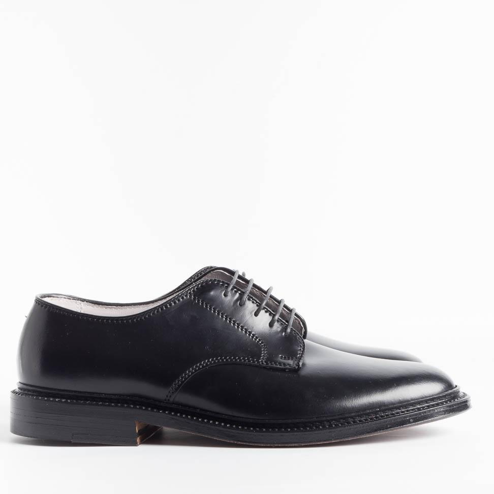 ALDEN - 2937 F - Derby - Limited Edition for Cappelletto - Smooth Black Unlined - Call to buy Alden Men's Shoes