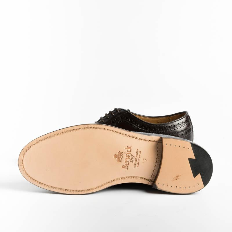 BERWICK 1707 - 5273 Derby - Rois Brown Men's Shoes Berwick 1707