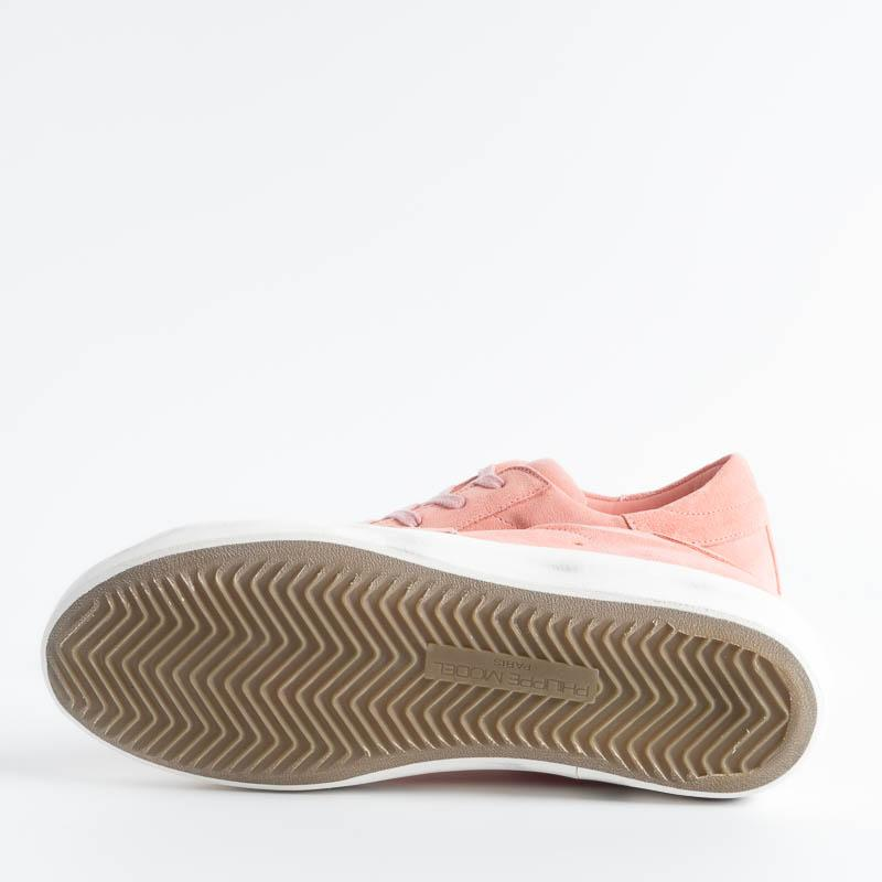 PHILIPPE MODEL - SS19 - CLLD XN11 - Suede - Coral Women's Shoes Philippe Model Paris