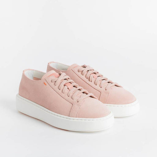 SANTONI CLEANICON - 60780 P40 - CleanIcon Sneakers - Pink Suede Women's Shoes Santoni - Women's Collection