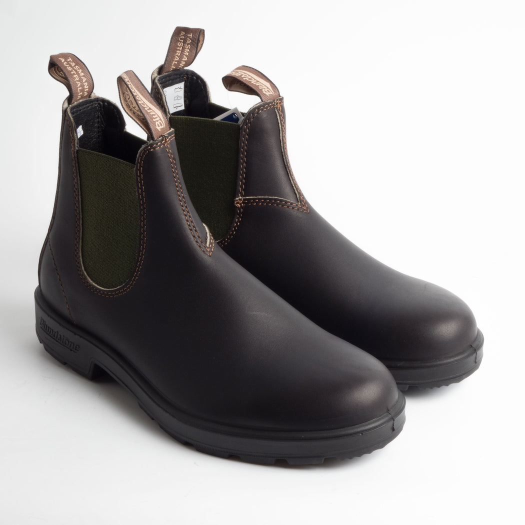 BLUNDSTONE - 519 - STOUT BROWN/OLIVE - CappellettoShop - Stivaletto