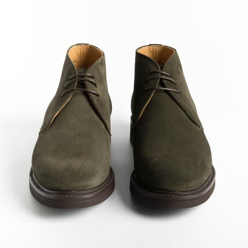 BERWICK 1707 - Ankle Boots - 549 Go Rain Olive - Green Suede Shoes Man Berwick 1707