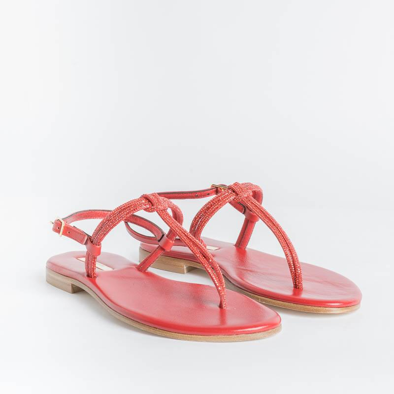PAOLA FIORENZA - Micro-crystals sandal - Red Shoes Woman PAOLA FIORENZA