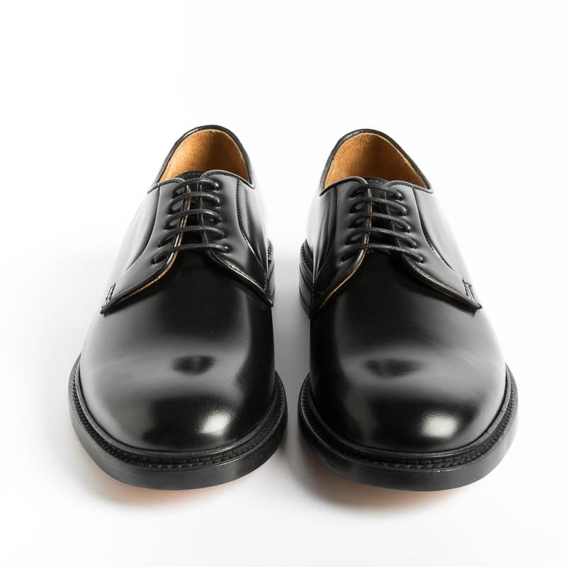 BERWICK 1707 - 5268 - Derby - Black leather Men's Shoes Berwick 1707
