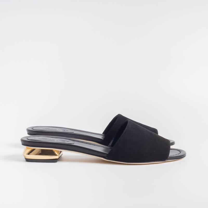 ANNA F. - Mules - 7607 - Black Suede Shoes Woman Anna F.