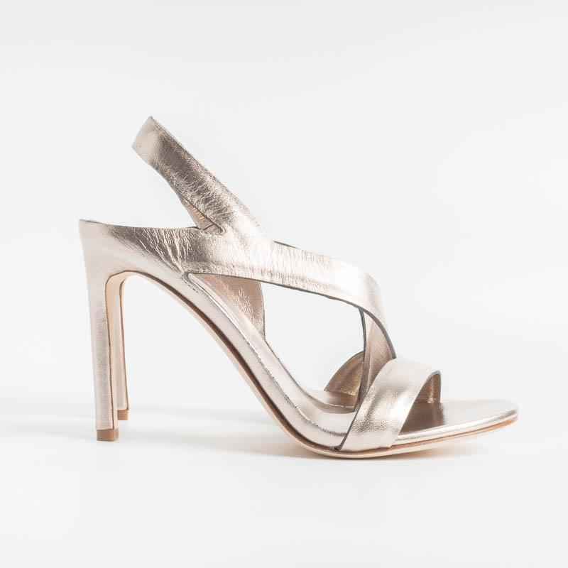 DEL CARLO - Sandals - 10931 Ami - Mirror Pyrite Women's Shoes DEL CARLO