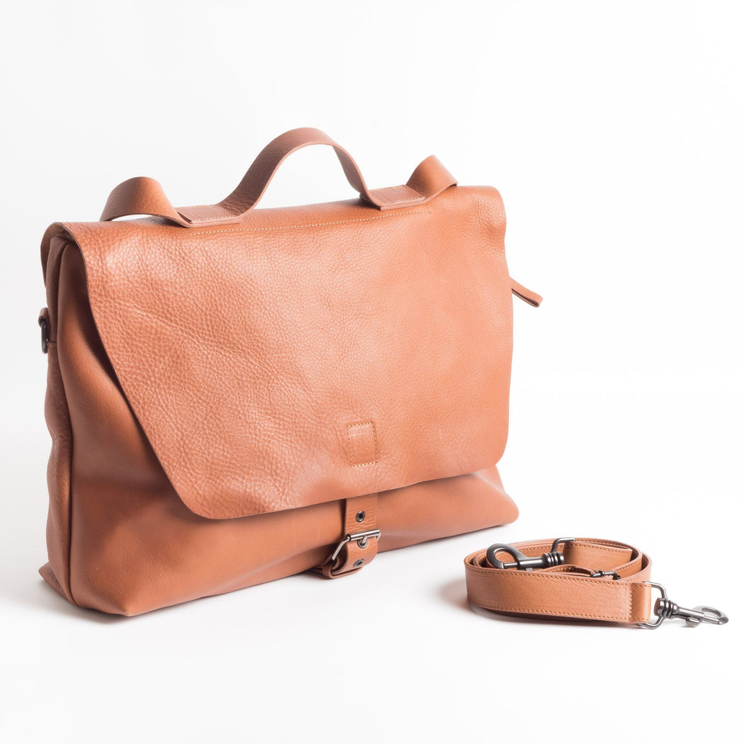 MARLO - Work bag - Post - Leather Man Accessories Marlo