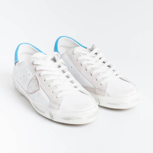 PHILIPPE MODEL - PRLU VN02 - ParisX - White Light Blue Men's Shoes Philippe Model Paris