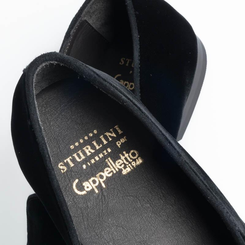 STURLINI - FW 2019/20 - MOCASSIN AR-E1294- Black Velvet Shoes for Men STURLINI