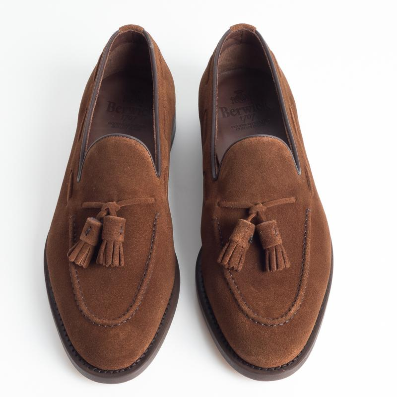 BERWICK 1707 - SS 2019 - 8491 - Loafer Nappine Suede - Hazelnut Shoes Man Berwick 1707