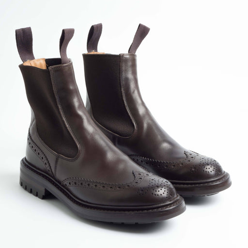 TRICKER'S - 2754 - Silvia Elastic Sides Boots - Espresso Burnished Women's Shoes Tricker's