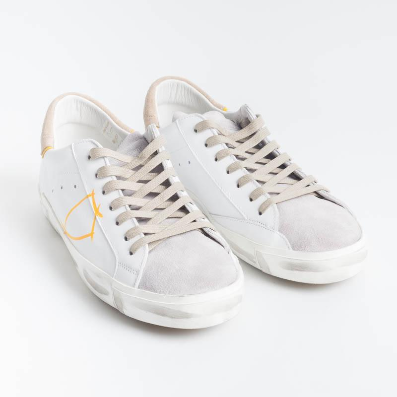 PHILIPPE MODEL - PRLU VX01 - ParisX - Bianco Beige Scarpe Uomo Philippe Model Paris