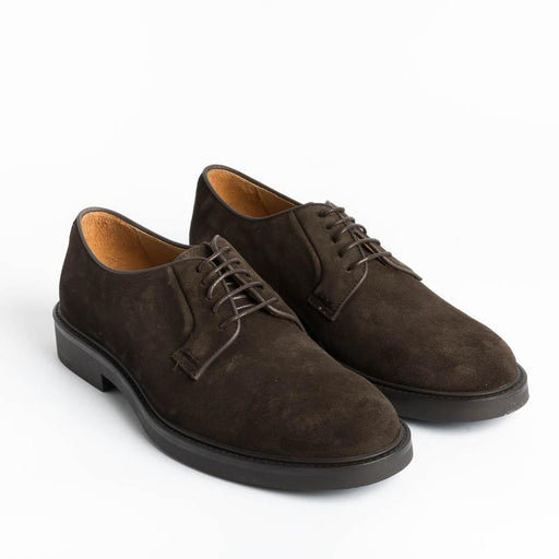 CAPPELLETTO 1948 - 5129 Derby - Dark Brown Suede Men's Shoes CAPPELLETTO 1948 - Men's Collection