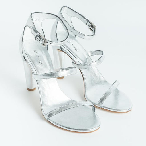 DEL CARLO - SS2019 - Sandals - 10746 - Othos - Silver Laminate Woman Shoes DEL CARLO