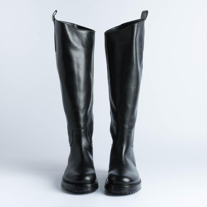 STRATEGIA - Boot A4996 - Talc - Black Shoes Woman Strategy