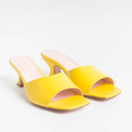 ANNA F. - Mules - 3241 - Yellow Chiffon Shoes Woman Anna F.