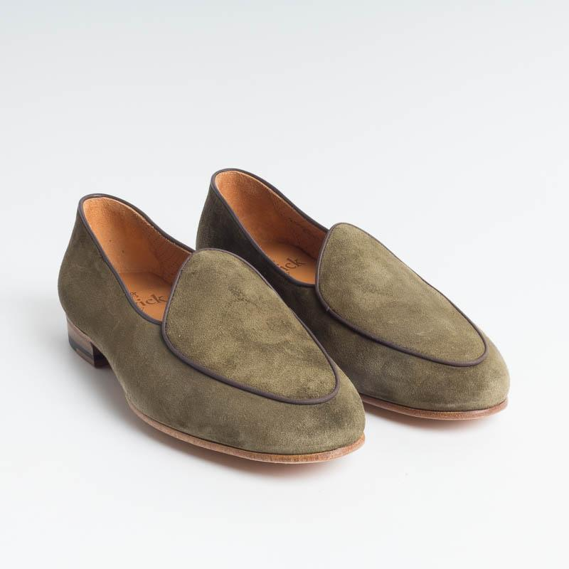BERWICK 1707 - Woman Moccasin - Green suede Shoes Woman BERWICK 1707 - Woman Collection