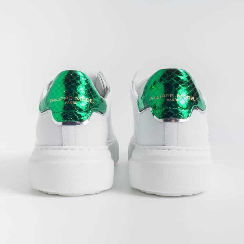 PHILIPPE MODEL - BYLD VY03 - Temple - White Green Philippe Model Paris Women's Shoes