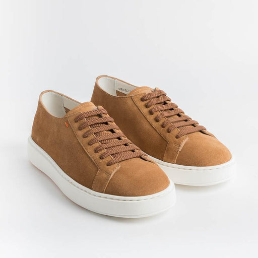 SANTONI Cleanicon - Sneakers - 21430.C35 - Suede Leather Santoni Men's Shoes - Men's Collection