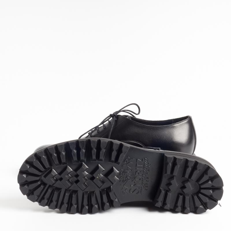 BY A. - Francesina woman - 1190 - Black Woman Shoes BY A