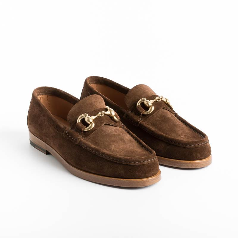 HENDERSON - Loafer - Hollie.4 - Brown Suede Women's Shoes HENDERSON - Women's Collection